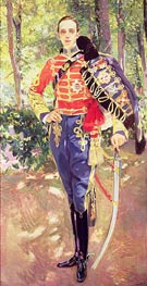 Portrait of King Alfonso XIII wearing the uniform of the Hussars, 1907 von Sorolla y Bastida | Gemälde-Reproduktion