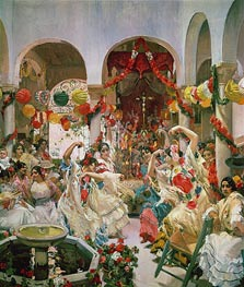 Seville. The Dance | Sorolla y Bastida | Painting Reproduction
