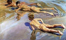 Children on the Beach | Sorolla y Bastida | Painting Reproduction