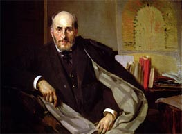 Portrait of Santiago Ramon y Cajal | Sorolla y Bastida | Painting Reproduction