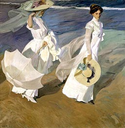 Strolling along the Seashore | Sorolla y Bastida | Painting Reproduction