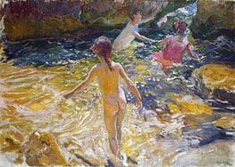 The Bath, 1905 von Sorolla y Bastida | Gemälde-Reproduktion