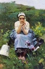 The Milkmaid, Undated by Sorolla y Bastida | Painting Reproduction