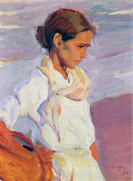 Valencian Fishergirl | Sorolla y Bastida | Painting Reproduction