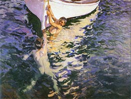 The White Boat, 1905 by Sorolla y Bastida | Painting Reproduction