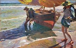Beaching Boats | Sorolla y Bastida | Painting Reproduction