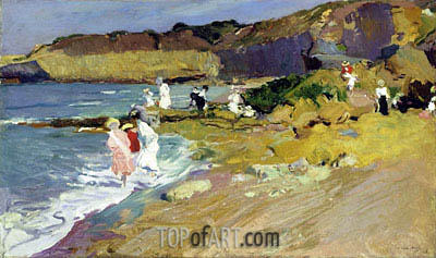 Beach Scene, 1906 | Sorolla y Bastida | Painting Reproduction