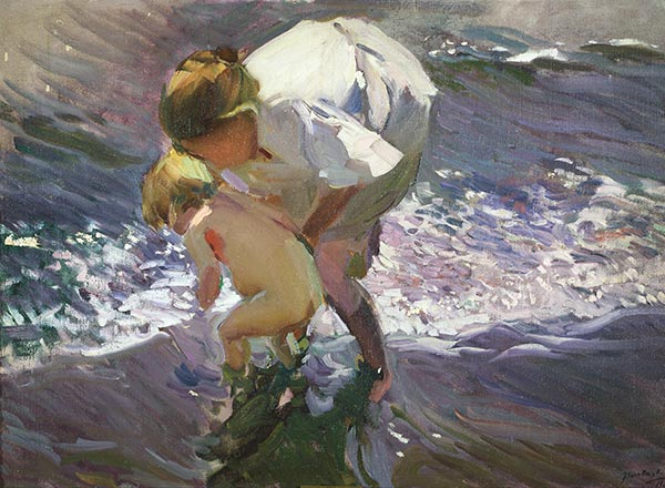 Bathing on the Beach, 1908 | Sorolla y Bastida | Painting Reproduction