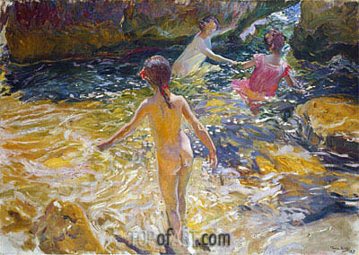 The Bath, 1905 | Sorolla y Bastida | Painting Reproduction