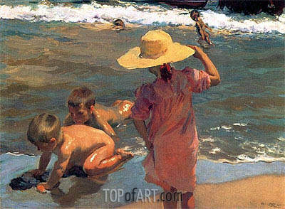 The Young Amphibians, 1903 | Sorolla y Bastida | Painting Reproduction