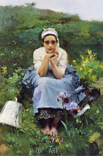 The Milkmaid, Undated | Sorolla y Bastida | Painting Reproduction