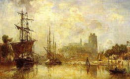 The Port of Dordrecht, c.1869 by Jongkind | Painting Reproduction