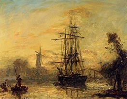 Rotterdam, 1871 by Jongkind | Painting Reproduction