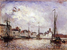 The Harbor: the Brussels Warehouse District, 1874 by Jongkind | Painting Reproduction