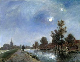 Towpath near Overschie, 1865 by Jongkind | Painting Reproduction