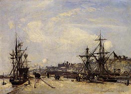 Honfleur, the Railroad Dock | Jongkind | Painting Reproduction