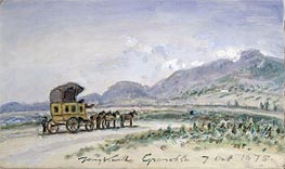 The Diligence from Grenoble to Sassenage | Jongkind | Painting Reproduction
