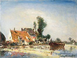 Houses at Crooswijk | Jongkind | Painting Reproduction