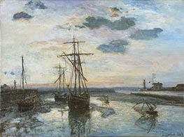 Port of Honfleur at Evening | Jongkind | Painting Reproduction