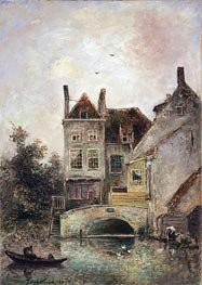 The Artist's House, Maassluis, 1871 by Jongkind | Painting Reproduction