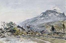 A Chalet in a Mountainous Landscape | Jongkind | Painting Reproduction