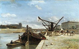 View of the Pont Royal, Paris, 1852 by Jongkind | Painting Reproduction