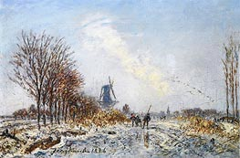 Skaters near Rotterdam, 1876 by Jongkind | Painting Reproduction