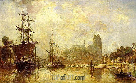 The Port of Dordrecht, c.1869 | Jongkind | Painting Reproduction