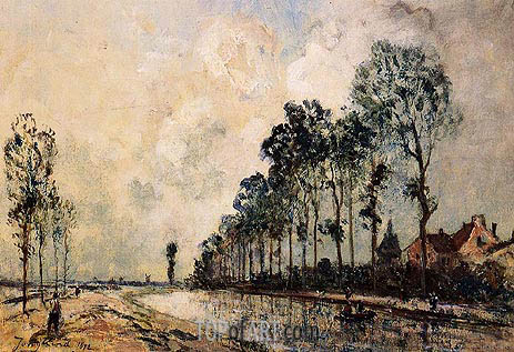 The Oorcq Canal, Aisne, 1872 | Jongkind | Painting Reproduction