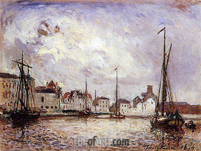 The Harbor: the Brussels Warehouse District, 1874 | Jongkind | Painting Reproduction