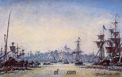 The Port of Marseille, 1881   Jongkind   Painting Reproduction