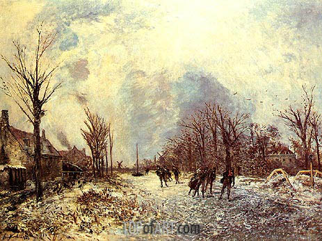 Skaters in Holland, 1863   Jongkind   Painting Reproduction