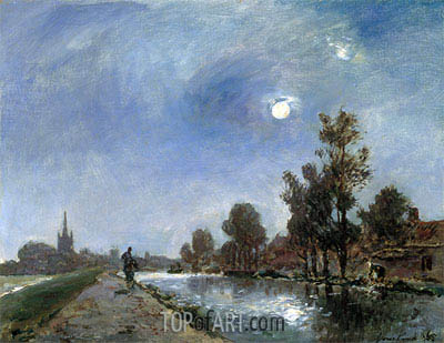 Towpath near Overschie, 1865 | Jongkind | Painting Reproduction
