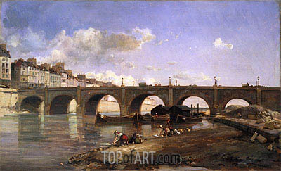 Le Pont De La Tournelle Paris 1859 By Jongkind