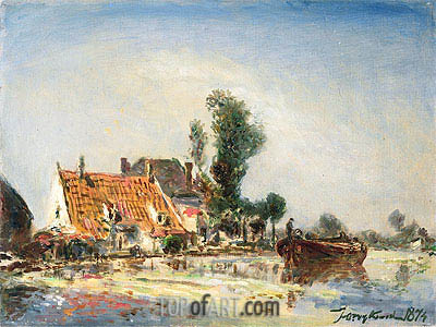 Houses at Crooswijk, 1874   Jongkind   Painting Reproduction