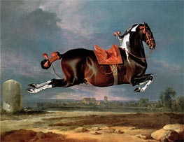 The Piebald Horse 'Cehero' Rearing, Undated by Johann Georg Hamilton | Painting Reproduction