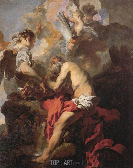 The Inspiration of Saint Hieronymus, 1627 | Johann Liss | Painting Reproduction