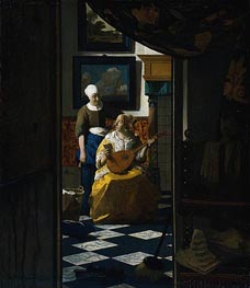 The Love Letter | Vermeer | Gemälde Reproduktion
