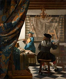 The Art of Painting (The Artist's Studio) | Vermeer | Gemälde Reproduktion