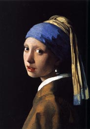 The Girl with a Pearl Earring, c.1665/66 von Vermeer | Gemälde-Reproduktion