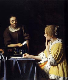 Mistress and Maid | Vermeer | Painting Reproduction