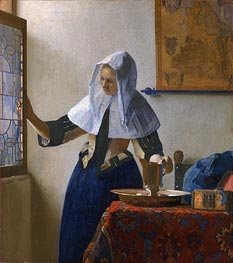 Young Woman with a Water Pitcher | Vermeer | Gemälde Reproduktion