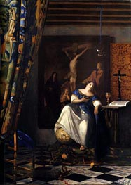 Allegory of Faith, c.1671/74 by Vermeer | Painting Reproduction