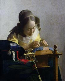 The Lacemaker | Vermeer | Painting Reproduction