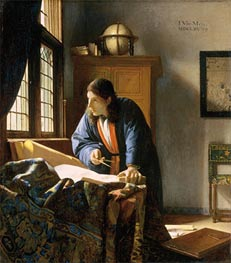 The Geographer, c.1668/69 by Vermeer | Painting Reproduction