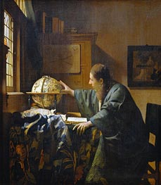 The Astronomer, 1668 by Vermeer | Painting Reproduction