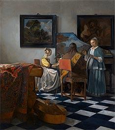 The Concert, c.1665/66 by Vermeer | Painting Reproduction