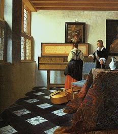 The Music Lesson | Vermeer | Painting Reproduction