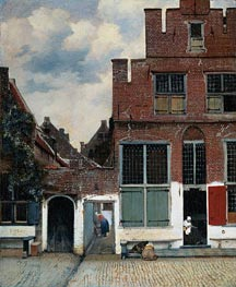 The Little Street, c.1657/58 by Vermeer | Painting Reproduction