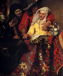 The Procuress, 1656 by Vermeer | Painting Reproduction